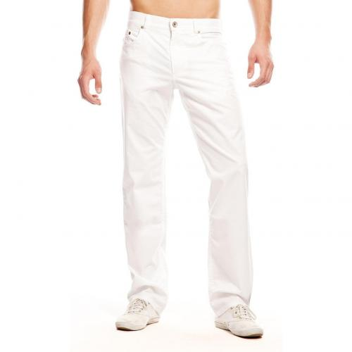 Brax Cooper Colored Jeans Straight Fit Weiß