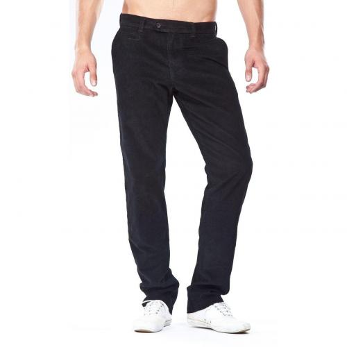 Brax Everest Feincordchino Slim Fit Schwarz