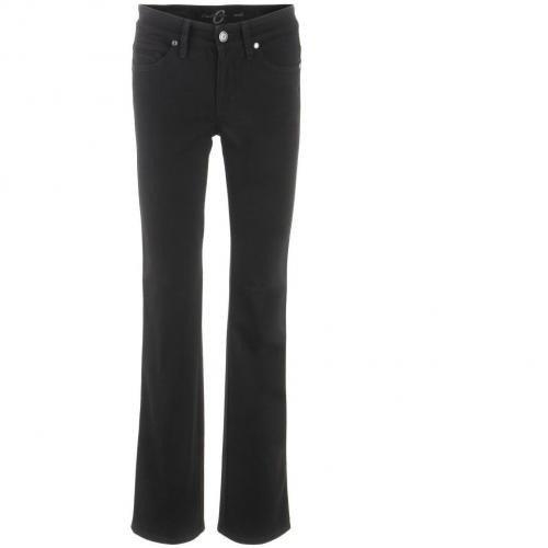 Cambio Black Straight Leg Jeans Nora