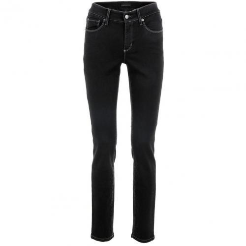 Cambio Black Straight Leg Jeans Parla