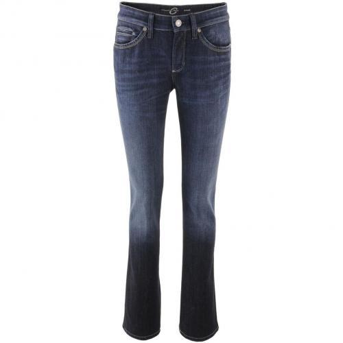 Cambio Dark Blue Straight Leg Jeans Nora
