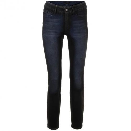 Cambio Dark Blue Straight Leg Jeans Parla