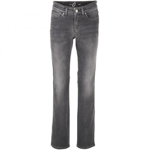 Cambio Grey Straight Leg Jeans Nora
