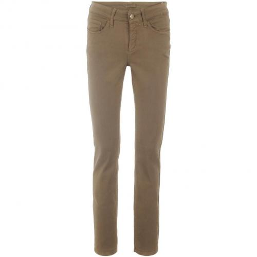 Cambio Taupe Straight Leg Jeans Parla