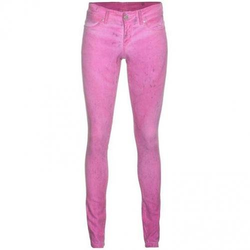 Camouflage Couture Cashmere Denim Neon Pink