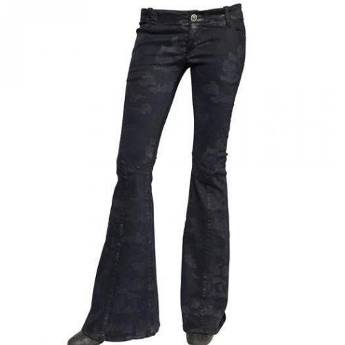 Costa Noir - Camouflage Druck Stretch Denim Jeans