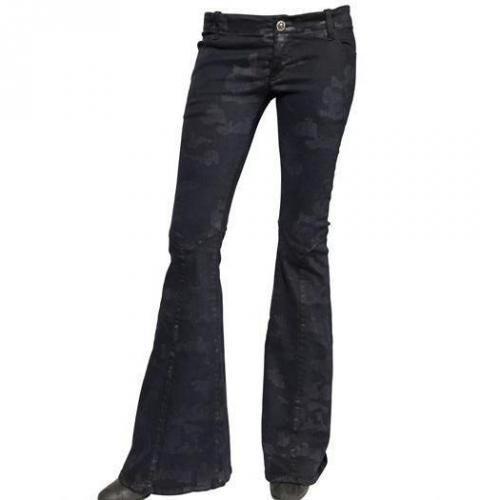 Costa Noir - Camouflage Druck Stretch Denim Jeans