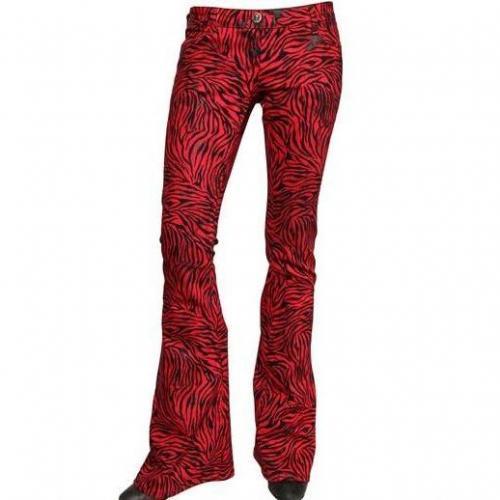 Costa Noir - Zebra Druck Stretch Denim Jeans