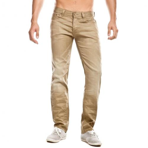 Cross Jack Jeans Straight Fit Beige