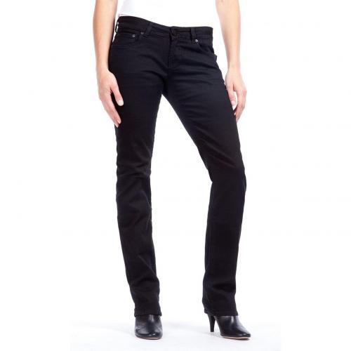 Cross Jeans Carmen Straight Fit Schwarz Überlänge 36