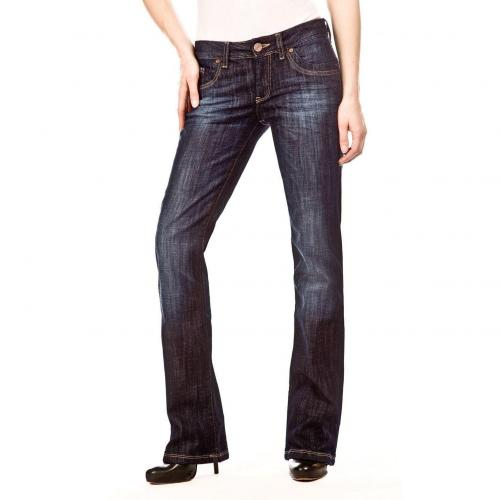 Cross Jeans Laura Überlänge 38 Bootcut Dark Used