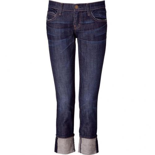 Current Elliott 3/4 Boyfriend Jeans Dark Blue