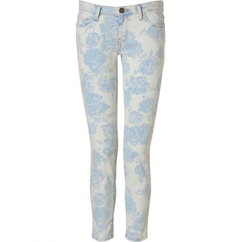 Current Elliott Blue Rose Pants Stiletto