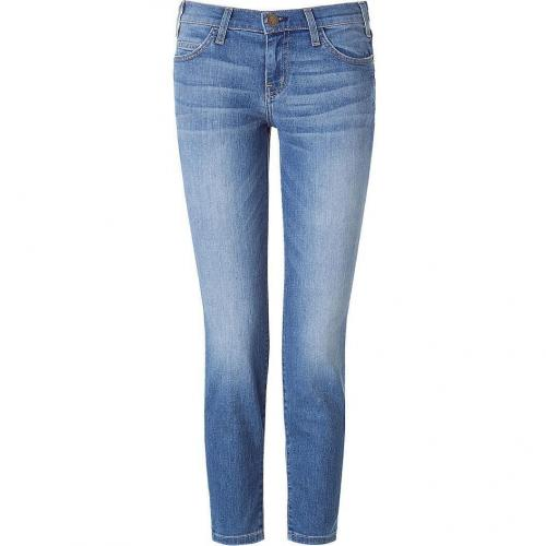 Current Elliott Blue Washed Low-Rise Jeans