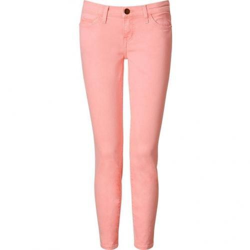 Current Elliott Day Glow Pink Stiletto 7/8 Jeans