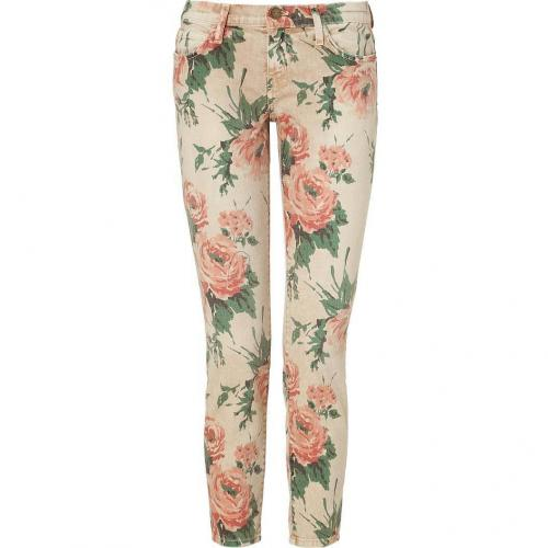 Current Elliott Haystack Floral Print Stiletto Pants