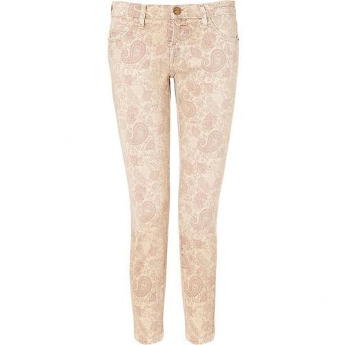 Current Elliott Khaki Paisley The Stiletto 7/8 Jeans