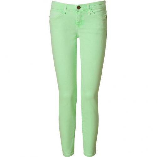 Current Elliott Lime Green Stiletto 7/8 Jeans