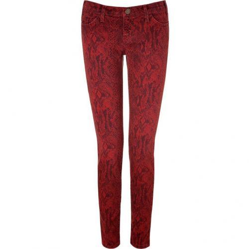 Current Elliott Paprika Ankle Skinny Jeans with Snake Print