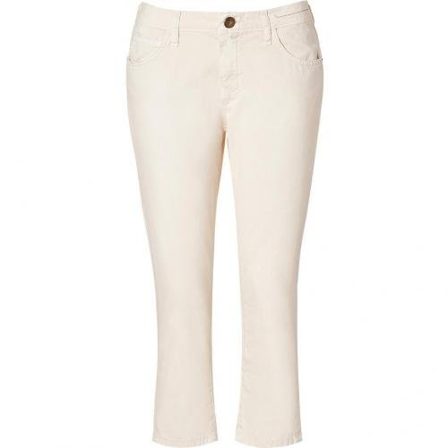 Current Elliott Sweet Cream Skinny Boy Pants