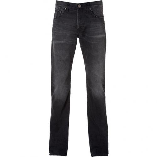 Current Elliott The Slim Straight Dark Grey Jeans