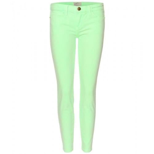 Current/Elliott The Stiletto Skinny Jeans Lime Green