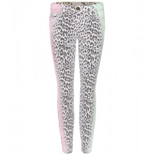 Current/Elliott The Stiletto Skinny Jeans Mit Animalprint Multi Airbrush