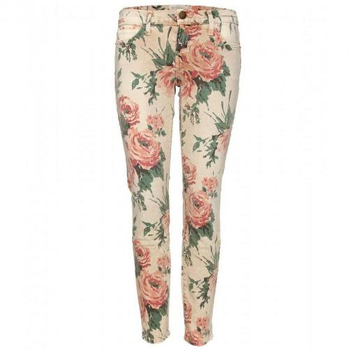 Current/Elliott The Stiletto Skinny Jeans Mit Floralem Print Haystack Floral