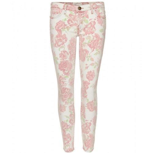 Current/Elliott The Stiletto Skinny Jeans Mit Floralem Print