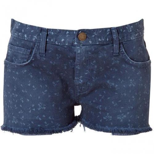 Current Elliott Vintage Blue Boyfriend Short Jeans With Small Flower Prin
