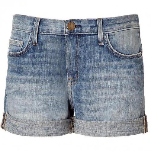 Current Elliott Vintage Blue Rolled Jeans Short