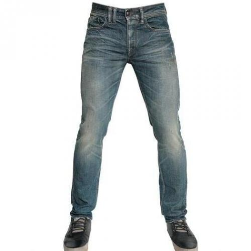 Cycle - 17,5Cm Comfort Washed Denim Skinny Jeans