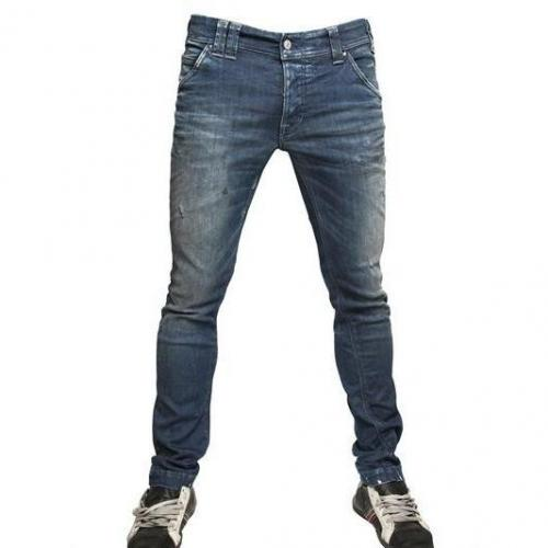 Cycle - 17Cm Skinny Bedruckte Washed Jeans