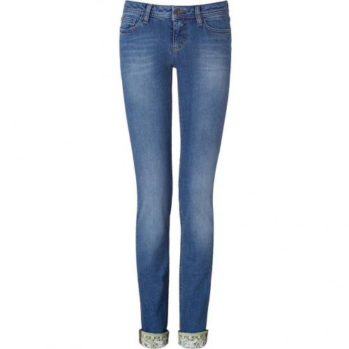 D&G Dolce & Gabbana Blue 5 Pocket Denim Pants