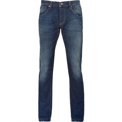 D&G Dolce & Gabbana Blue Five Pocket Jeans