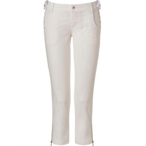 D&G Dolce & Gabbana Natural White Denim Capri