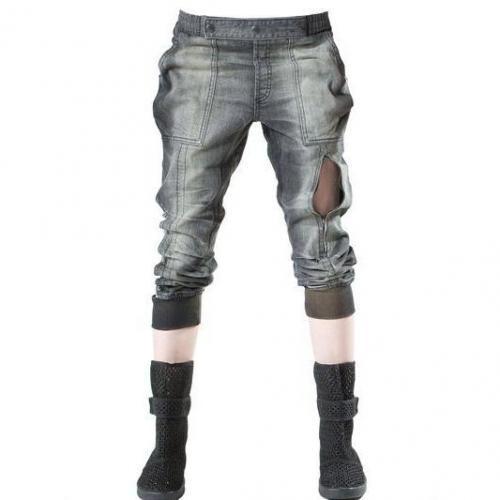 Demobaza - Schnür Baumwoll Bagy Jeans