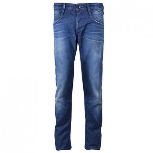 Denham - Hüftjeans Skin O11 Blau