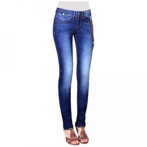 Desigual - Slim Modell Jazmin Farbe Blaue Waschung