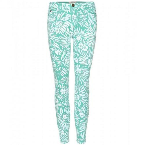 Diane von Furstenberg Dvf X Current/Elliott The Classic Skinny Jeans Mint Tropical Plants