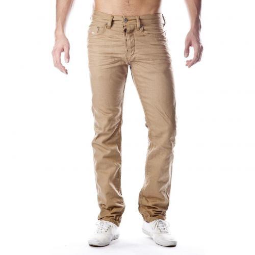 Diesel Braddom Jeans Straight Fit Beige