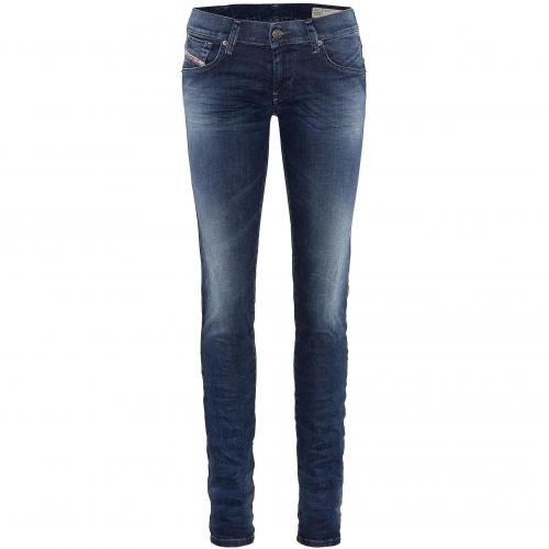 Diesel Damen Jeans Getlegg Washed Blue