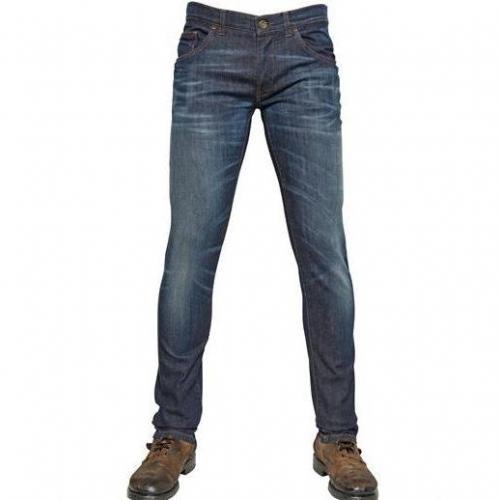 Dolce & Gabbana - 17Cm Stretch Denim Jeans Blue Washed
