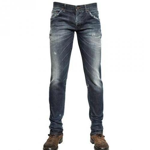 Dolce & Gabbana - 17Cm Stretch Distressed Denim Jeans