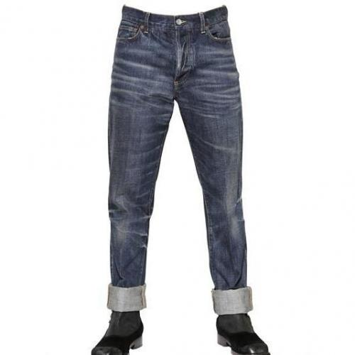 Dolce & Gabbana - 18Cm High Rise Regular Whiskered Jeans