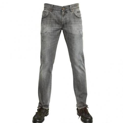 Dolce & Gabbana - 19Cm Dirtied Denim 14 Gold Jeans