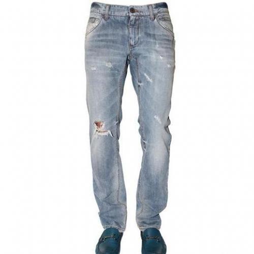 Dolce & Gabbana - 19Cm Distressed Denim Gold Fit Jeans