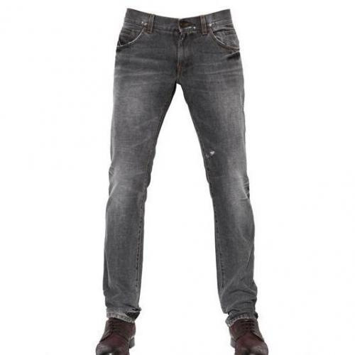 Dolce & Gabbana - 19Cm Low Rise Slim Fit Gold Jeans