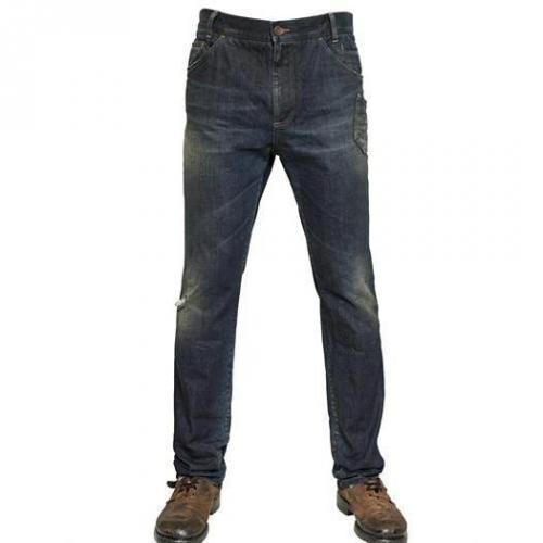 Dolce & Gabbana - 19Cm Seitliche Tasche Denim Jeans Dark Blue