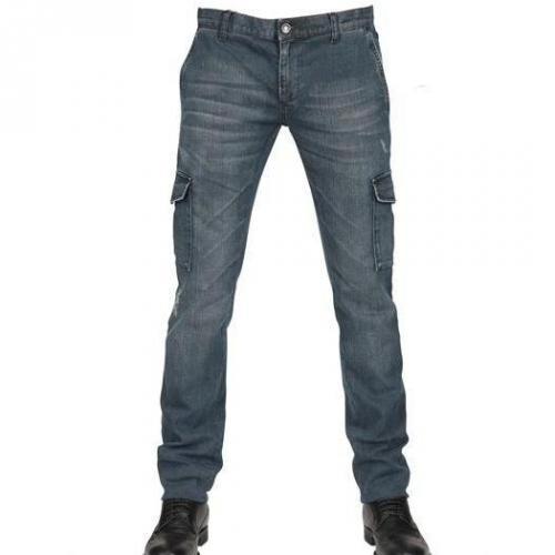 Dolce & Gabbana - 19Cm Stretch Denim Cargo Jeans